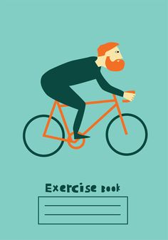 A really beautiful picture of a man on a bike, taken from a design for a school Exercise book, meant to accompany the Olympics - but an unofficial design of course