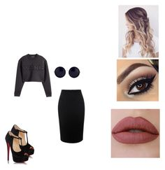 """""""wang"""" by tyrajackson ❤ liked on Polyvore featuring H&M, Alexander McQueen, Christian Louboutin and The Row"""