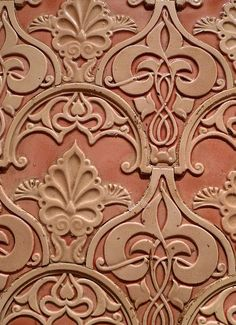 Wall tiles in the interior of the old Turkish baths off Bishopsgate, London.                                                                                                                                                                                 More
