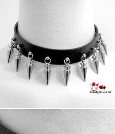 Punk Unisex Bloodycat Emo Goth Rock Drop Spike Choker