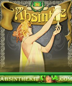 Welcome to Absinthe Kit - The only store that provides natural Absinthe never seen or tasted before. World Wide Shipping. Alcohol Content, Beer, Posters, Gold, Vintage, Ale, Postres, Banners, Billboard