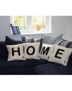 Scrabble letter cushions!!