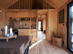House By The Sea, Cabin Interiors, Villa, Architecture, Wooden Houses, Tiny Houses, Building, Furniture, Cabin Fever