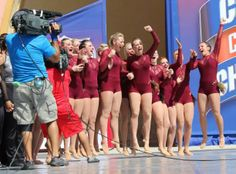 UMD's Dance Team celebrates 2014 National 1st Place win in Florida! Congrats ladies!