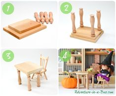 Doll House in a Box: DIY tutorial on how to make a simple and portable dollhouse for children