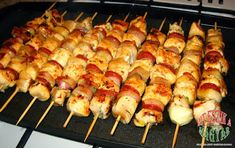 Grill Party, Hungarian Recipes, Hungarian Food, Skewers, Wok, Grilling Recipes, Bacon, Food And Drink, Meat