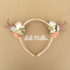 Avery Deer Antler Headband - Kawaii Mori Kei Woodland Sweet Lolita Rave Cult Party Antlers on Etsy, $16.00
