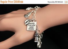 MOTHERS DAY SALE Lighthouse Bracelet.  Beach Charm Bracelet. Beach Bracelet. Silver Charm Bracelet. Handmade Jewelry. by GatheringCharms from Gathering Charms by Gilliauna. Find it now at http://ift.tt/1TqyjJg!