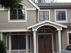 Best exterior paint colors for house with shutters tans benjamin moore Ideas Best Exterior Paint, Exterior Paint Colors For House, Paint Colors For Home, Exterior Colors, Exterior Design, Paint Colours, Siding Colors, House Shutters, House Siding
