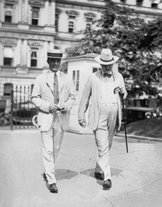 The Roosevelts - Teddy Snr And Teddy Jnr strolling in 1922