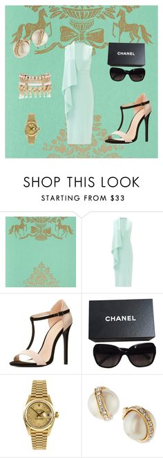 """""""Miss President"""" by glitterprincess101 ❤ liked on Polyvore featuring PiP Studio, Cushnie Et Ochs, Charlotte Russe, Chanel, Rolex, Kate Spade and River Island"""