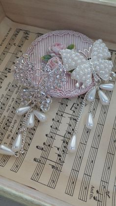 1pcsRhinestone Pearl butterfly by msgardengrove1 on Etsy, $4.99