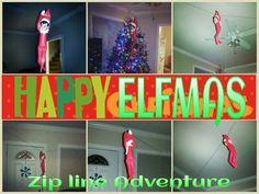 What the E.L.F.? Cedric the Zip Line Adventurer! Happy ELFMAS!