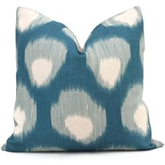 Peter Dunham Peacock Blue Bukhara Peacock Decorative Pillow