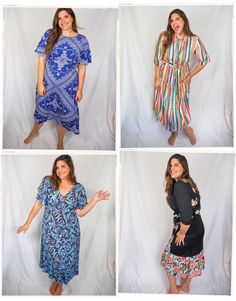 5 summer dresses in sizes 6-18 that are flattering, lightweight and perfect for those hot sticky days. They work for this curvy girl, but will also look amazing on any woman this summer! Fabulous Dresses, Cute Dresses, Cute Outfits, Summer Dresses, Retro Fashion, Fashion News, Fashion Trends, Beautiful Lengths, Mode Blog