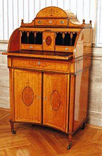 Ladies' writing and needlework cabinet, Nagytétény Castlemuseum, Budapest, Hungary