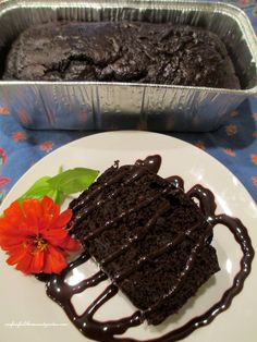 You won't believe there is zucchini in this moist 3 - ingredient chocolate cake!