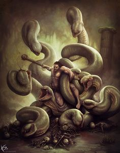 Hercules vs Hydra by ~KENBARTHELMEY