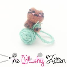 The Naughty Kitten with the Yarn Ear cuff and Stud Earrings set by TheBlushyKitten on Etsy