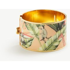 Ann Taylor Tropical Cuff Bracelet (€25) ❤ liked on Polyvore featuring jewelry, bracelets, remy pink, hinged cuff bracelet, cuff bangle, ann taylor, cuff bangle bracelet and cuff bracelet
