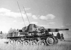 A captured Russian Stridsvagn Strv 40 tank in German use