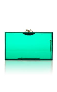 The Pandora clutch returns!  This time in COLORED perspex