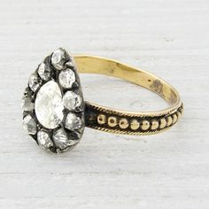 Antique Victorian Diamond Engagement Ring by Erstwhile Jewelry Co.