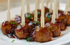 Throw away those old kitschy cocktail meatball recipes that call for grape jelly and frozen meatballs -- these are homemade, easy-to-make and so much better. You'll love that the meatballs are baked, not fried, and the sweet and tangy sauce is ready in under 15 minutes. What's more, you don't need to wait for a par