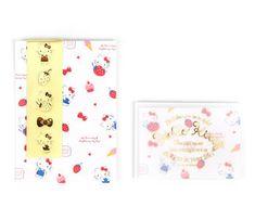 Hello Kitty Mini Letter Set: Strawberries