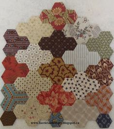 Faeries and Fibres: Two more hexagon blocks for the Empire Quilt