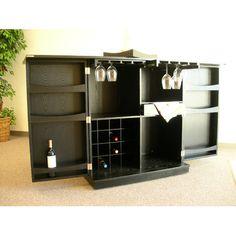 Proman Products California Fold-A-Way Bar Cabinet