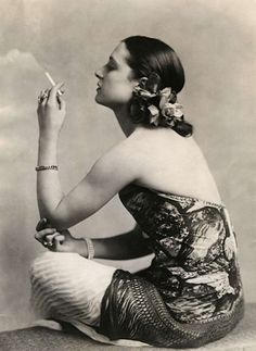 Woman with cigarette, 1924