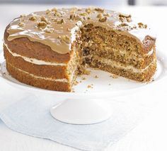 A delicious but lighter version of teatime favourite, coffee and walnut cake