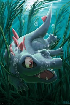 Totodile  LOVE Pokemon? Visit us: www.PokeMansion.Com