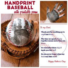 Handprint Baseball Father's Day Gift with Free Printable Poem         |          Sunny Day Family American ExpressDinersDiscoverlogo-jcblogo-mastercardPayPalSelzVisa