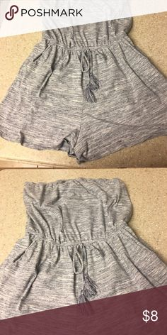 One piece short outfit Like new one piece grey short jumper or swimsuit cover. Says large but looks like it runs small. Worn once. Super cute. Mossimo Supply Co. Shorts