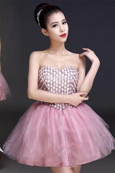 Blush Pink Beaded Bodice Homecoming Dress Short Prom Dress Sweetheart Party  Dress Cute Homecoming Dresses 91f6def23ead