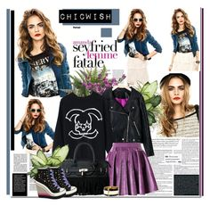 """""""Cara 10.Chicwish"""" by anabella507 ❤ liked on Polyvore featuring ZiGiny and Chicwish"""
