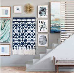 Target inspired gallery wall art