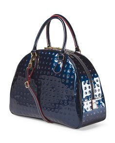 image of Made In Italy Leather Half Moon Bag