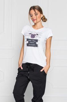 Tričko dlhšieho strihu s krátkym rukávom, bez výstrihu s potlačou