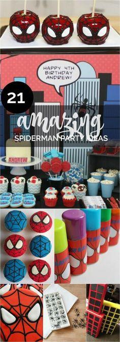 21 Amazing Spiderman Birthday Party Ideas