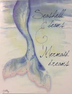 Mermaid Dreams Large Canvas