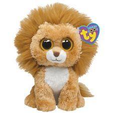 Ty Beanie Boos Buddy - King the Lion Beanie Boo Party, Ty Beanie Boos, Beanie Buddies, Ty Stuffed Animals, Plush Animals, Stuffed Toy, Ty Peluche, Rare Beanie Babies, Beenie Babies