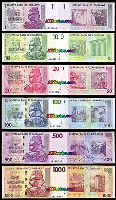 Zimbabwe banknotes - Zimbabwe paper money catalog and Zimbabwe currency history Birth Certificate Form, History, World, Knowledge, United States, Education, Unique, Happy, Report Cards