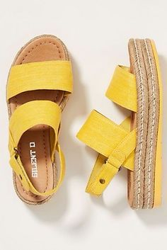 Silent D Alek Platform Sandals by in Yellow Size: at Anthropologie Grunge Style, Soft Grunge, Grunge Outfits, Emo Outfits, Vans Authentic, Timberland Boots, Birkenstock, Suede Tote Bag, Platform Espadrille Sandals