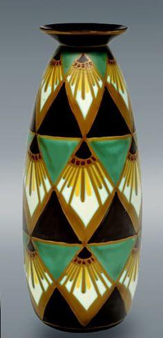 Belgian Art Deco Vase – Charles Catteau see more of Charles Catteau here :www.veniceclayartists.com/charles-catteau/