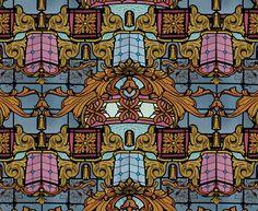 """""""THEATRO"""" textile design by Tatiana Silva."""