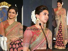 Deepika Padukone @ Kochadaiyaan Audio Launch Celebrity Sarees, Designer Sarees, Bridal Sarees, Latest Blouse Designs 2014 South India Fashion