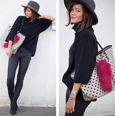 Zara Sweet, Essentiel Antwerp Bag, Urban Outfitters Hat, Acne Studios Boots